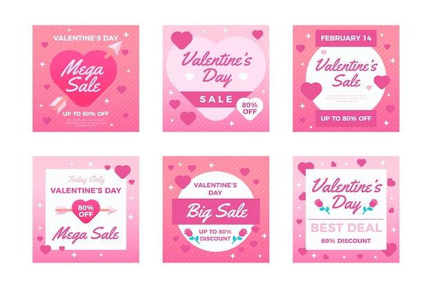 Día de san valentín venta post colección
