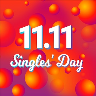 Día de solteros degradado abstracto