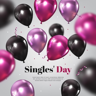 Día de solteros realista