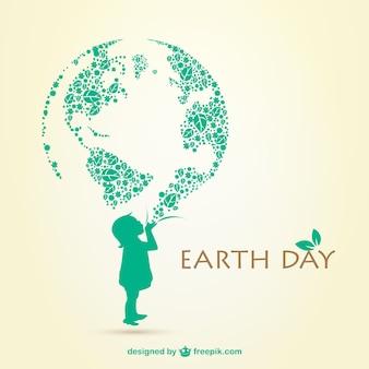 Día de la tierra con niña