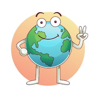 Día de la tierra vector de dibujos animados