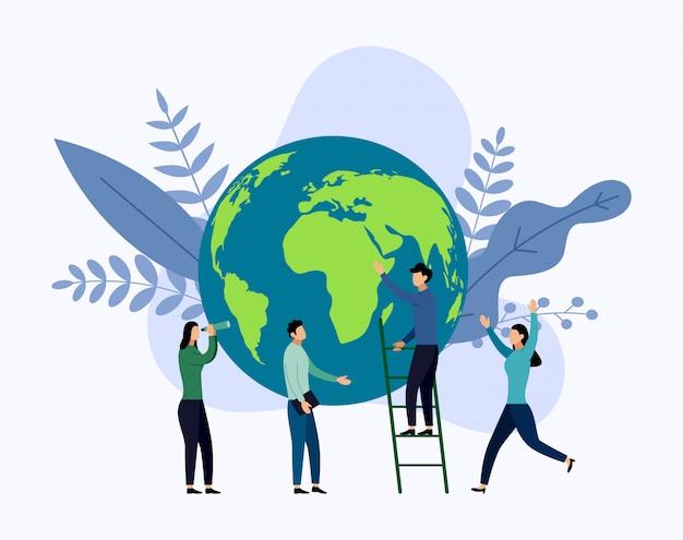 Día de la tierra con w ld, ecológico,