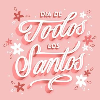 Día de todos los santos - lettering