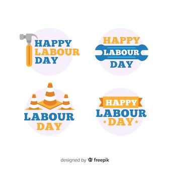 Día del trabajador colección de pegatinas