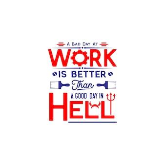 Día del trabajo cita vector de letras de diseño de svg