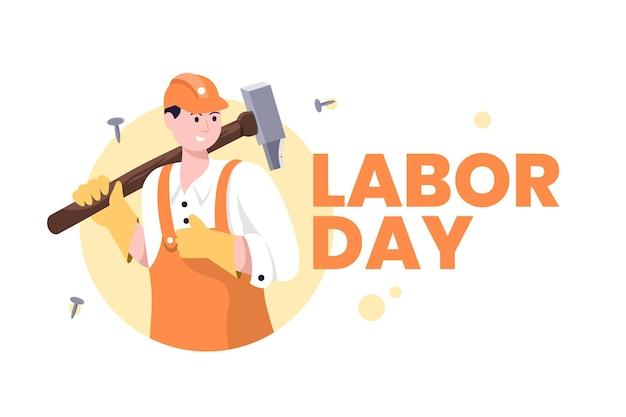Día del trabajo con el trabajador