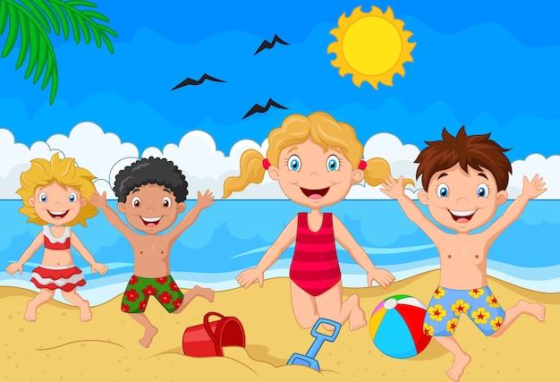 Día de verano de dibujos animados