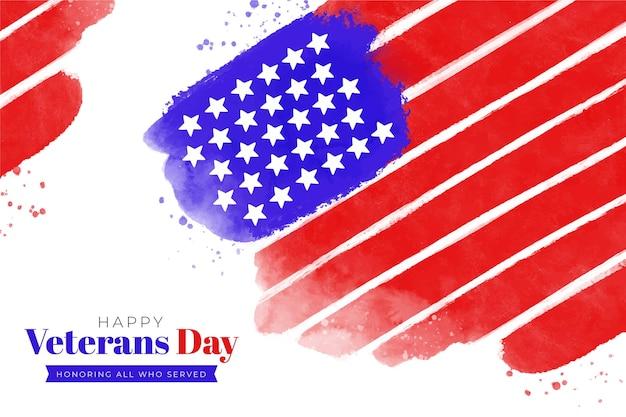 Día de los veteranos en acuarela