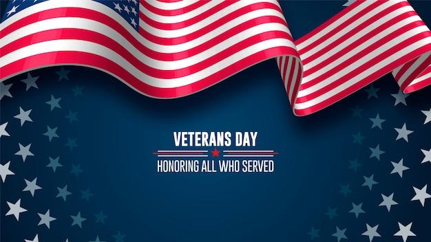 Día de los veteranos. honrando a todos que sirvieron. 11 de noviembre