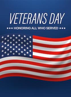 Día de los veteranos. honrando a todos que sirvieron. ilustración vectorial