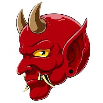 Diablo cabeza demonio satanás halloween monstruo de ilustración