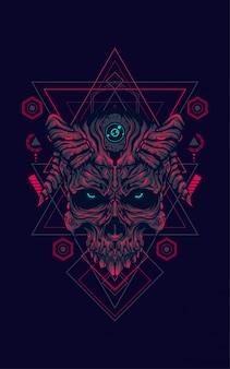 Diablo cráneo geometría sagrada