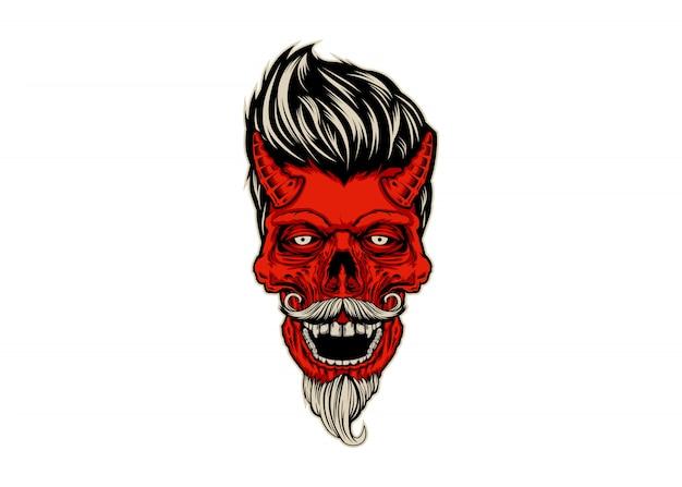 Diablo del cráneo de rockabilly