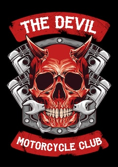 Diablo y emblema de piston