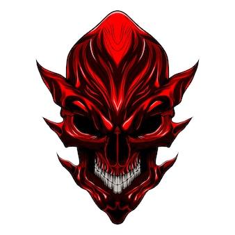 Diablo malvado cráneo