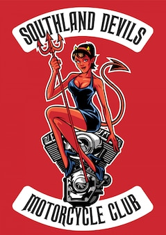 Diablo sexy con motor de moto