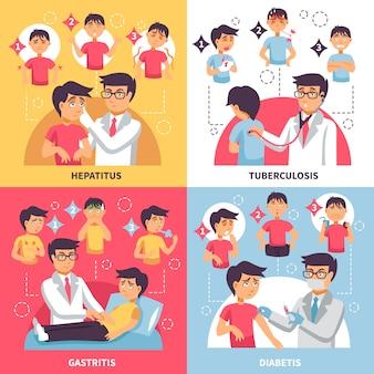 Diagnóstico enfermedades composición conceptual