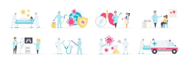 Diagnóstico y tratamiento de virología en clínica.