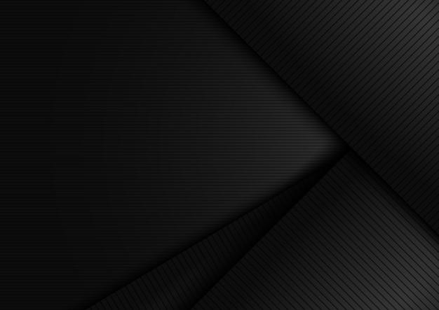 Diagonal de capa negra abstracta con fondo de líneas de rayas