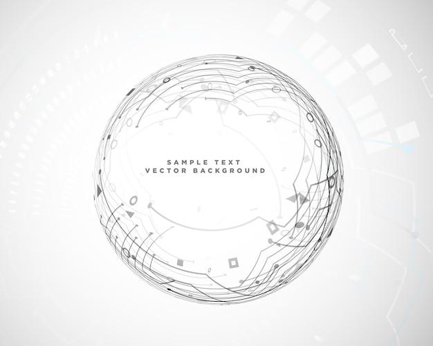 Diagrama de circuito de tecnología abstracta circular