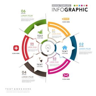 Diagrama circular infografía corporativa