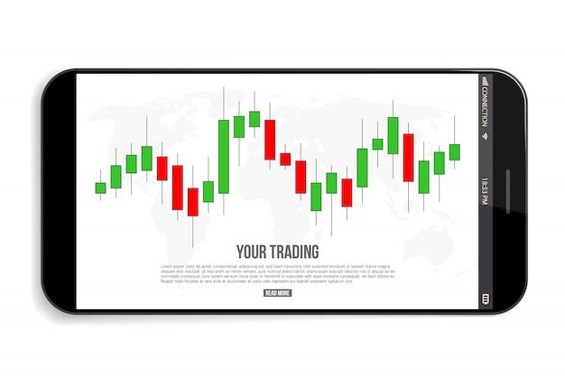 Diagrama de comercio de divisas señales, indicadores de venta.