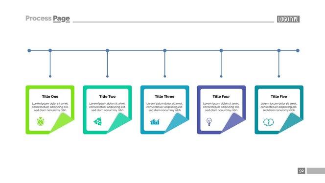 Diagrama de opciones con cinco elementos