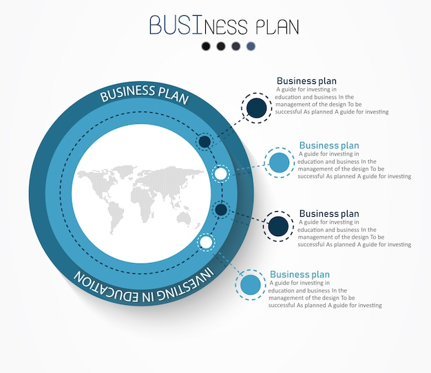 Diagrama de educacion hay 4 pasos, nivel de uso de vectores en el diseño.
