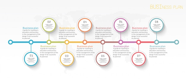 Diagrama de educacion hay 8 pasos, nivel use vectores en el diseño.