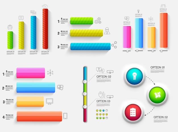 Diagrama de gráfico 3d presentación empresarial