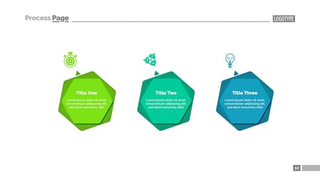 Diagrama infográfico con tres opciones