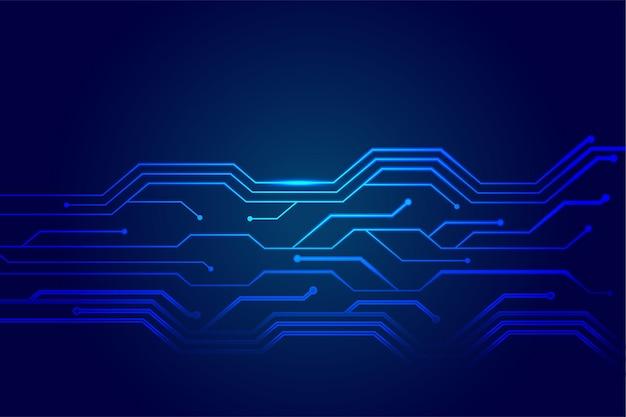 Diagrama de líneas de circuito de tecnología futurista
