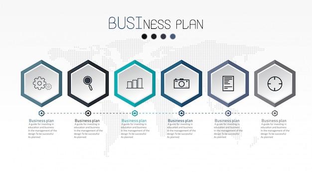 Diagrama de negocios y educación ilustración vectorial