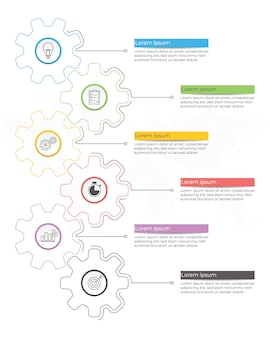 Diagrama de plantilla de infografía 5 opciones.