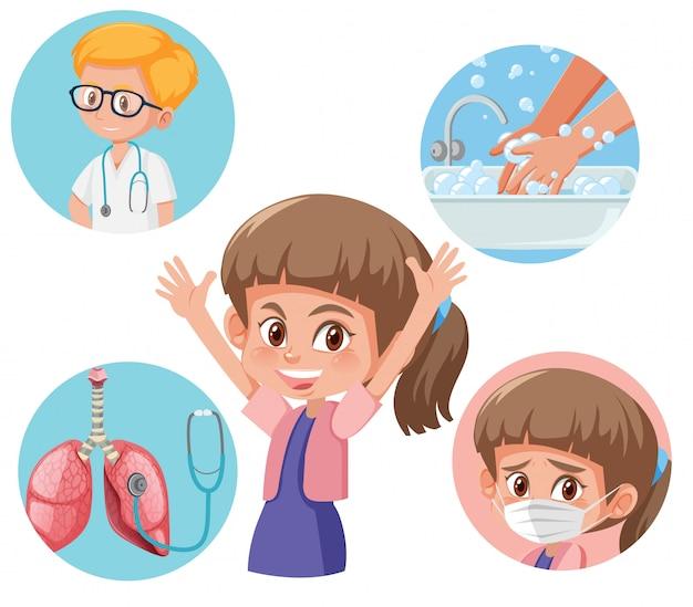Diagrama que muestra cómo evitar enfermarse