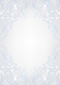 Diagramas de circuito de fondo de tecnología blanca