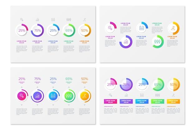 Diagramas de gradiente harvey ball - infografía