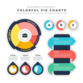 Diagramas de harvey ball planos - infografía
