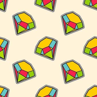 Diamantes de colores parche de patrones sin fisuras