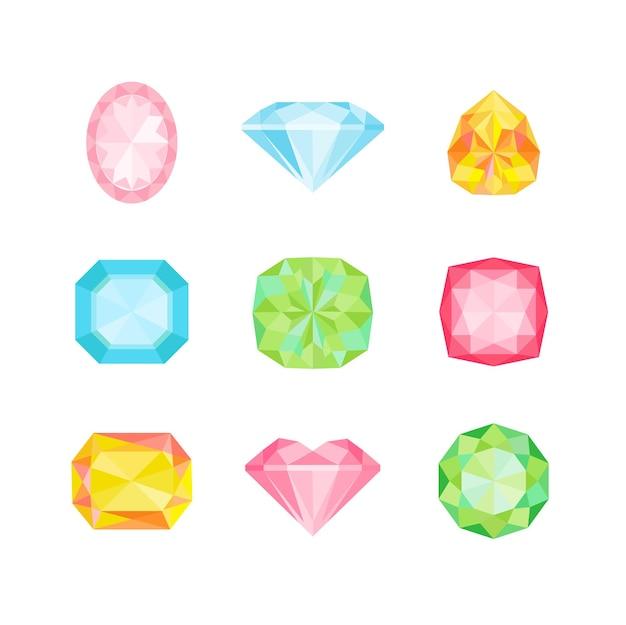 Diamantes geométricos de colores