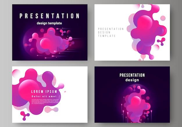 Las diapositivas de presentación diseñan plantillas de negocios