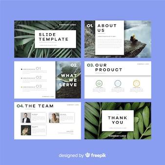 Diapositivas de presentaciones de negocios