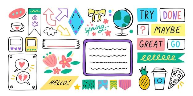 Diario diario de la escuela pegatinas de bala de dibujos animados pegatinas de notas