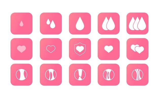 Días de mujeres días menstruales mensuales una disminución del volumen de todos los días salud del calendario de mujeres