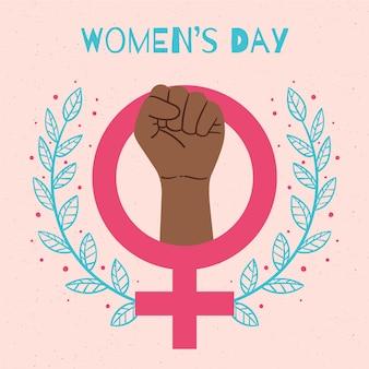 Dibuja el día de la mujer empoderadora