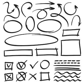 Dibuja flechas y marcos