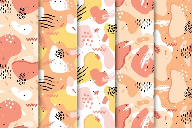 Dibuja con papel tapiz de colección de patrones coloridos