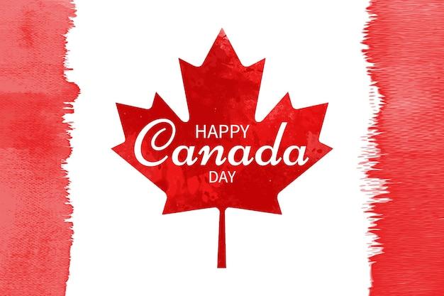 Dibujado a mano acuarela ilustración del día de canadá