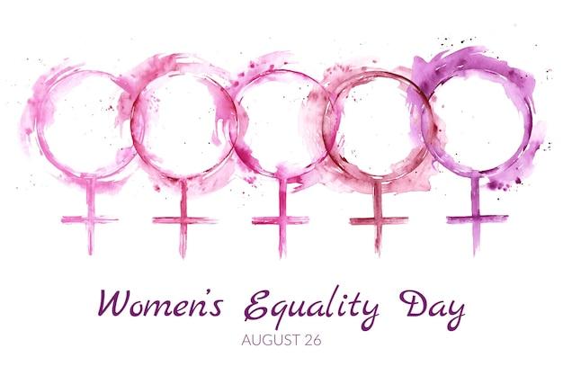 Dibujado a mano acuarela ilustración del día de la igualdad de las mujeres