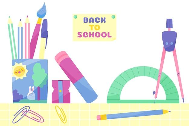 Dibujado a mano al fondo de pantalla de la escuela